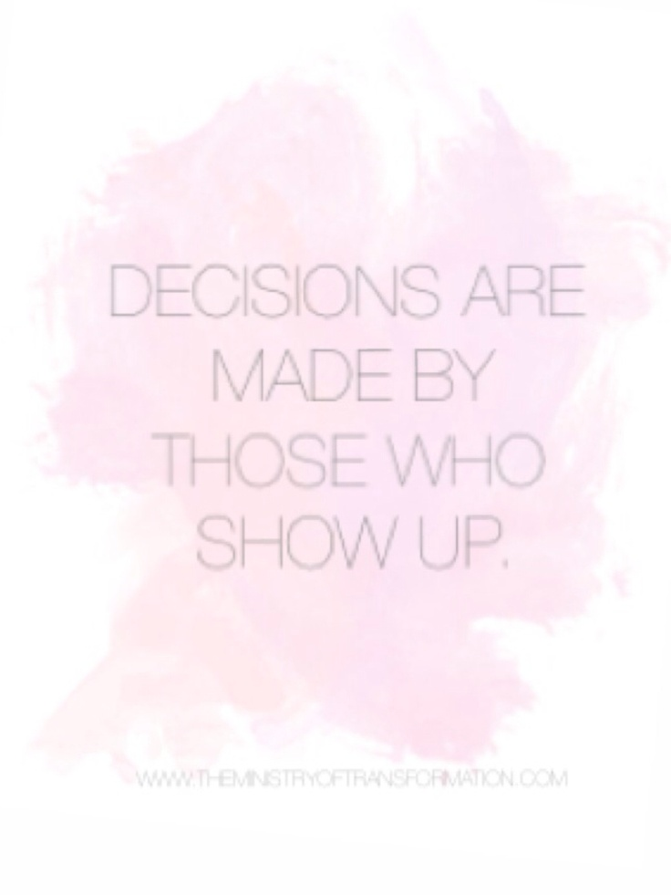 Are you ready to show up for yourself? Why not book your *FREE* 15 minutes of decision making mojo to make sure with The Decision Making Diva at http://www.timetrade.com/book/S2Q56