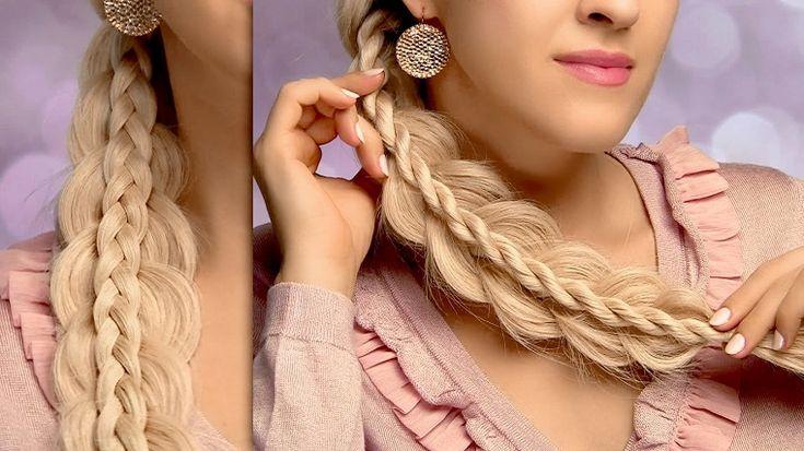 acconciatura capelli lunghi: una treccia molto particolare