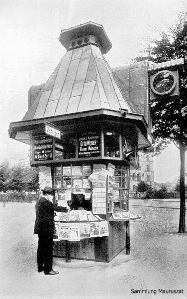 Alfred Grenander, Zeitungskiosk am Viktoria-Luise-Platz (Berlin)