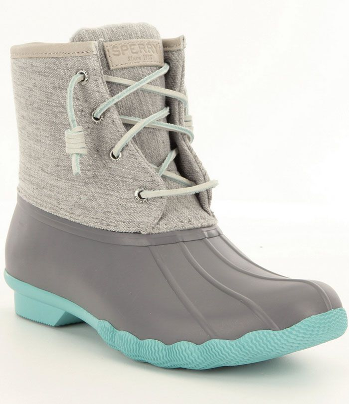 Sperry Saltwater Turquoise Pop-Outsole Duck Boots