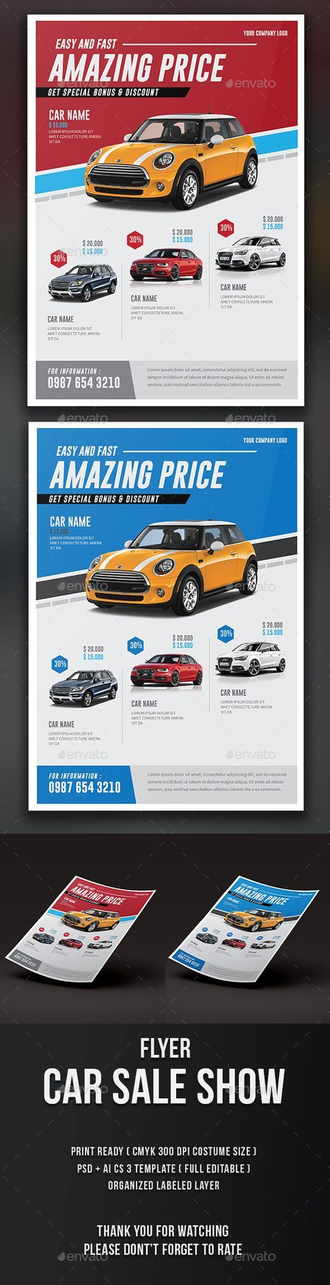 Car Sale Show Flyer Template PSD. Download here: http://graphicriver.net/item/car-sale-show-flyer/15757021?ref=ksioks
