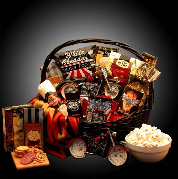 He's A Motorcycle Man Gift Basket: