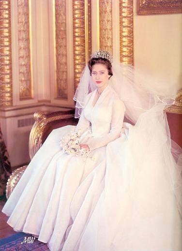 May 6, 1960: Princess Margaret on her wedding day. Both she and groom Anthony Armstrong-Jones were 30 years old. [photo: Cecil Beaton]