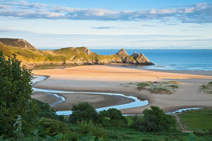 View across Three Cliffs Bay © Crown copyright (2014) Visit Wales