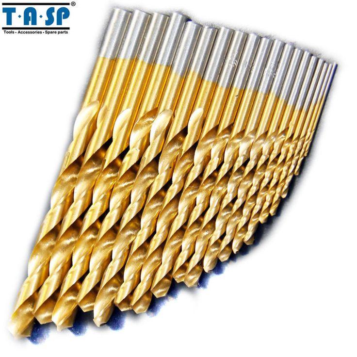 19PC Titanium HSS Drill Bit Set for Metal 1.0 ~ 10mm Power Tool Accessories