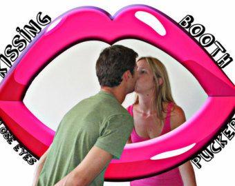 Lippen küssen Stand Foto Prop - große Foto-Prop, Digital, Hochzeit-Prop, Photobooth Prop, küssen Prop, DIY-Instant Download zum ausdrucken