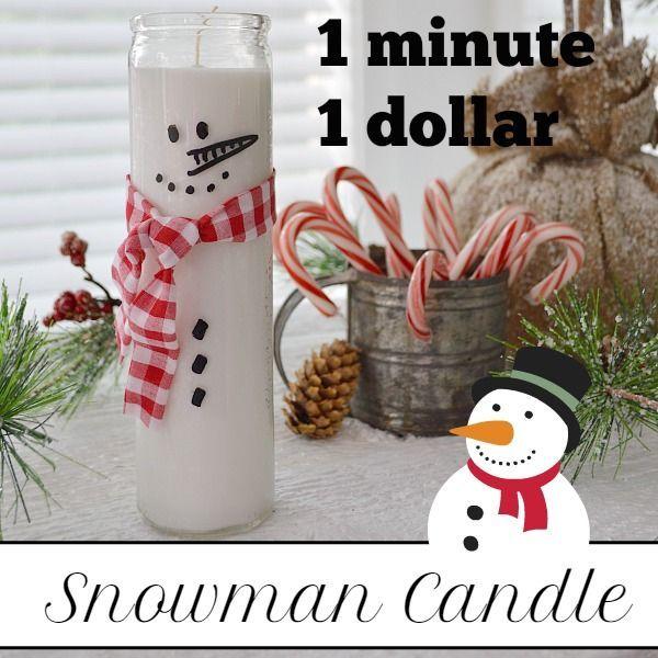 muñeco de nieve del árbol de dólar vela de Navidad