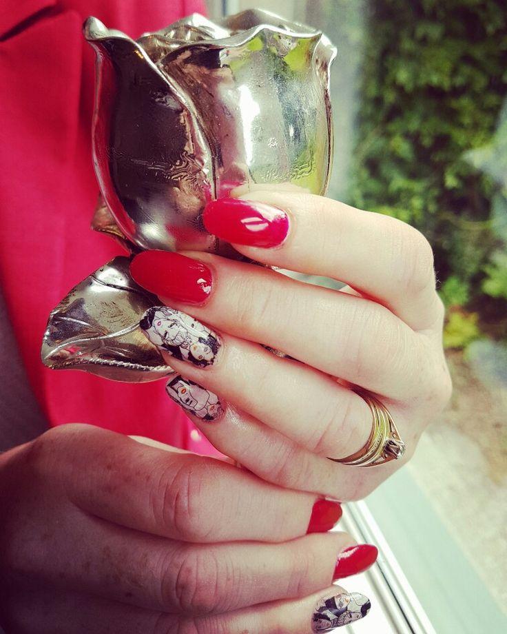 Acrylic nails.  Nail art