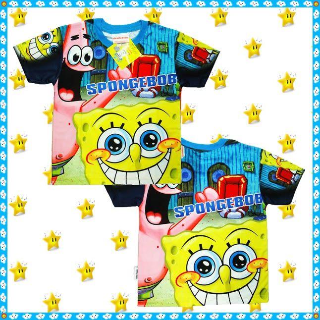 Details about SPONGEBOB SQUAREPANTS T-shirt age 3-4 5-6 7 ...
