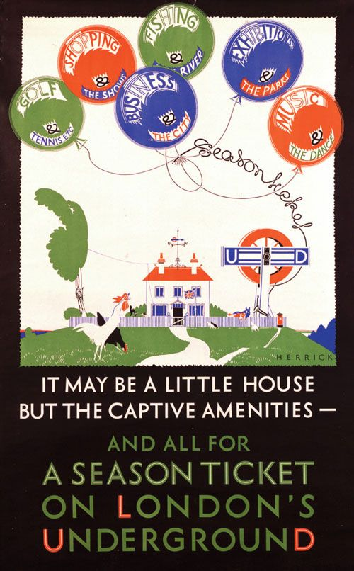 """""""And all for a season ticket on London's Underground"""" by Frederick Charles Herrick, 1925 #design #iconiclogos"""