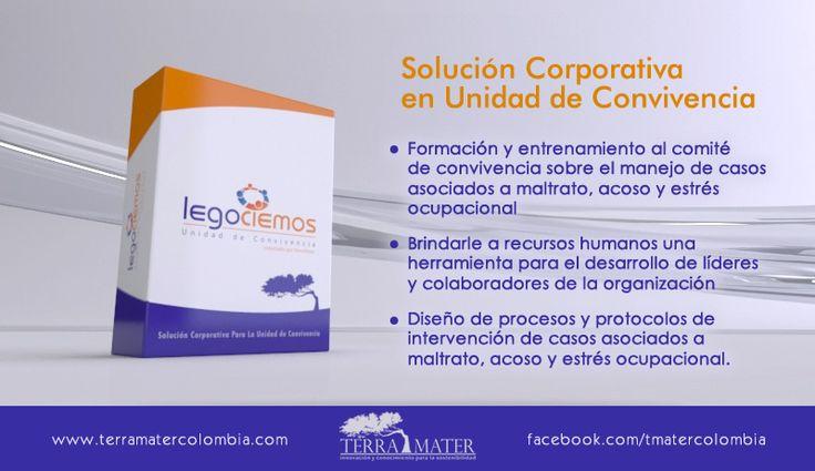 Legociemos - Unidad de Convivencia Es un modelo de intervención para formar a los miembros de la Unidad de Convivencia ( ley 1010) en procesos de negociación y solución de problemas.