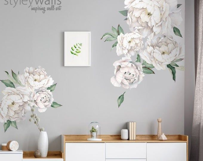 Rub On Transfers For Furniture Furniture Decals Redesign Etsy Flower Wall Decals Floral Wall Decals Home Decor