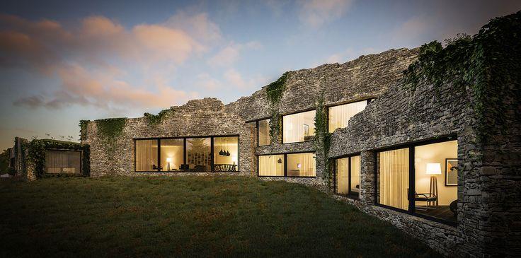 SDA Architecture | Chartered award winning architecture & interior design practice in Chorley, Lancashire | Green Belt Subterranean Eco Home in Bolton, UK.