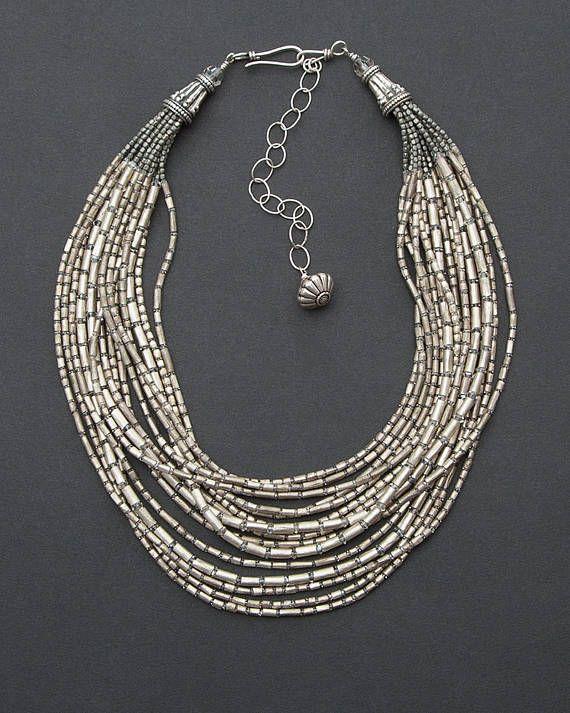 cd9be131f2acc Swarovski Necklace Modern Tribal Multi-strand Necklace | Necklace ...