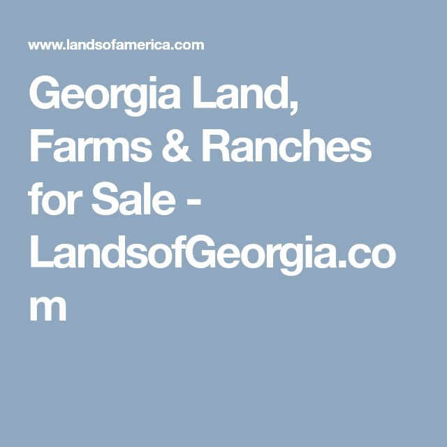 Georgia Land, Farms & Ranches for Sale - LandsofGeorgia.com