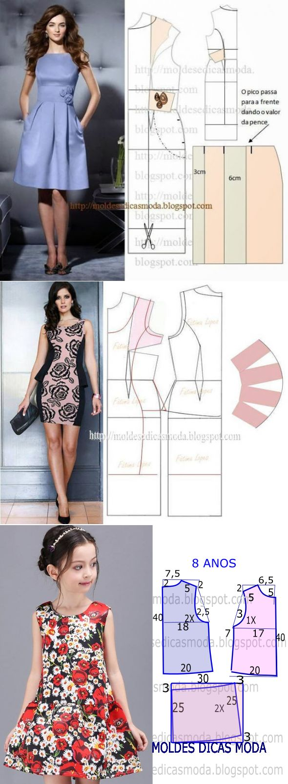 2211 best costura images on Pinterest | Embroidery, Blouses and Clothing