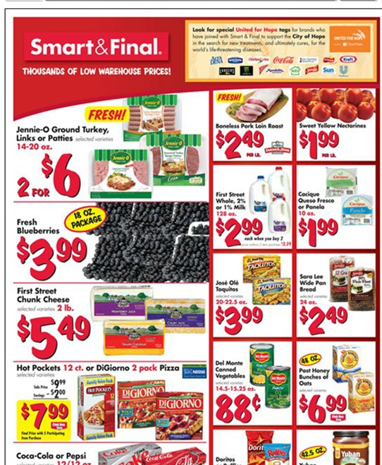 Smart & Final 1/16 - 1/22 Weekly Deals & Coupon Matchups
