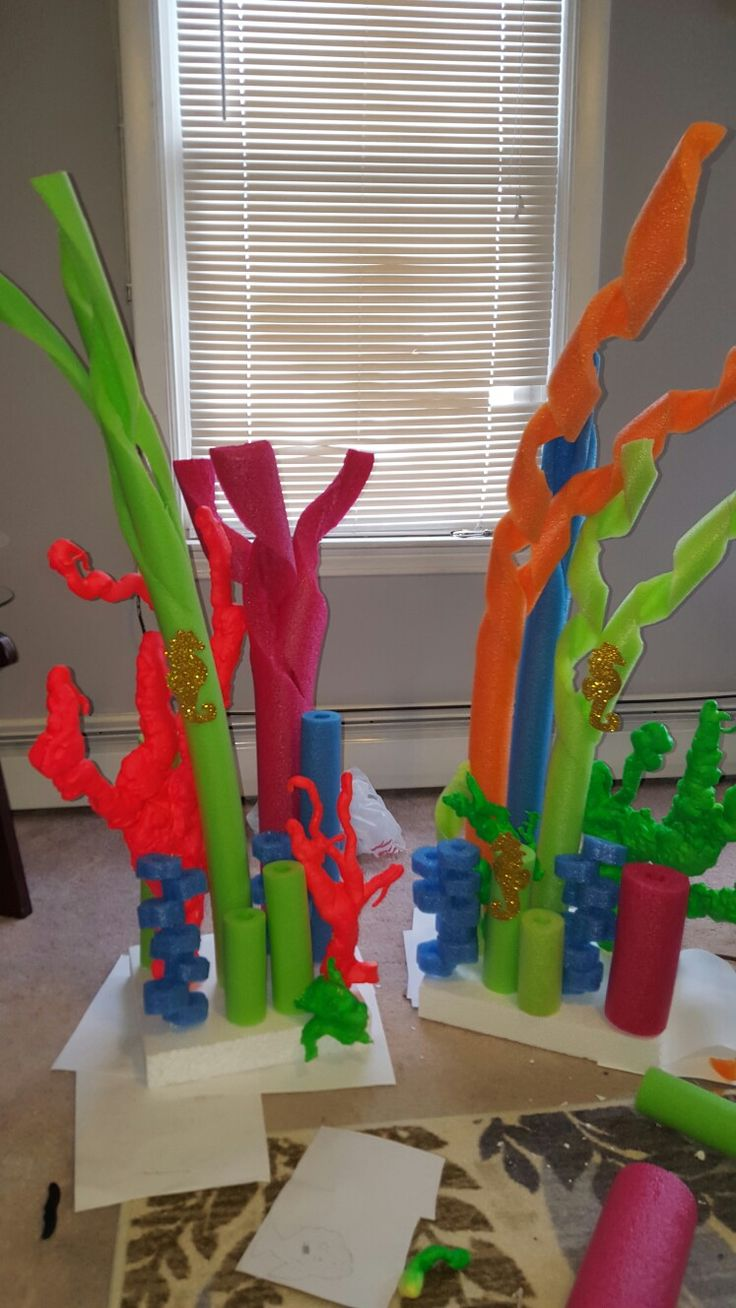 Pool noodle coral | the little mermaid | Under the sea ...
