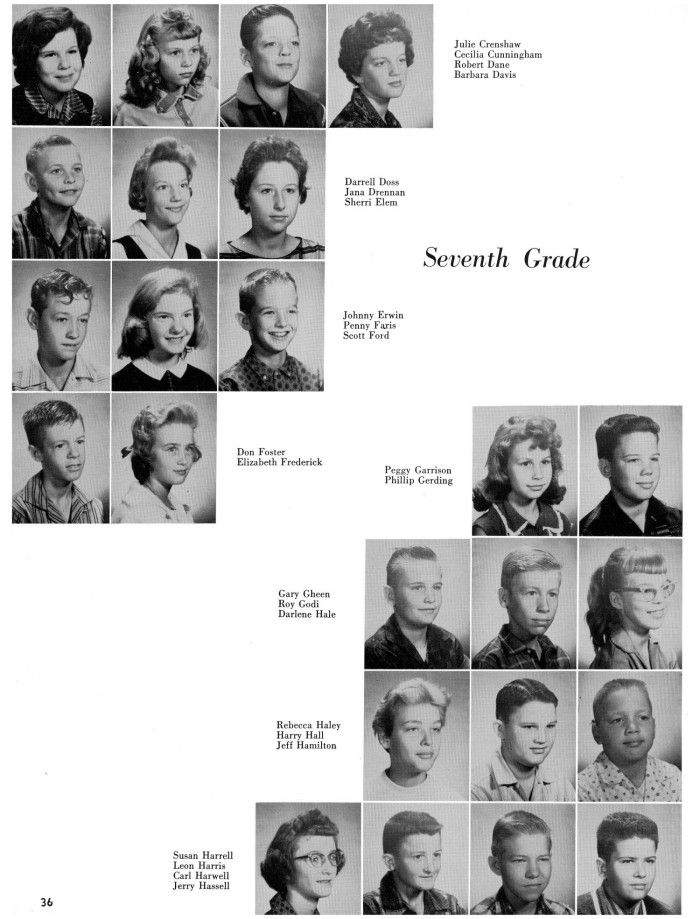 1960 yearbook photos seventh grade - Google Search