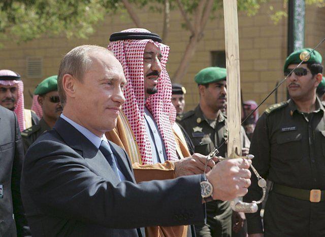 King Salman of Saudi Arabia &President Putin of Russia.