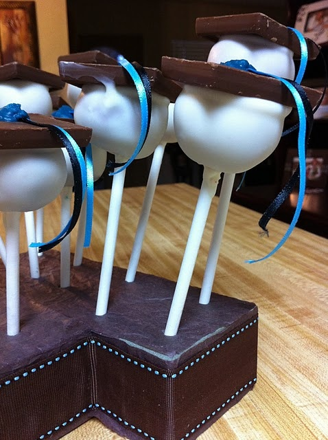 #Graduation #Cake #Pops (#Ghirardelli square as the 'cap'!)