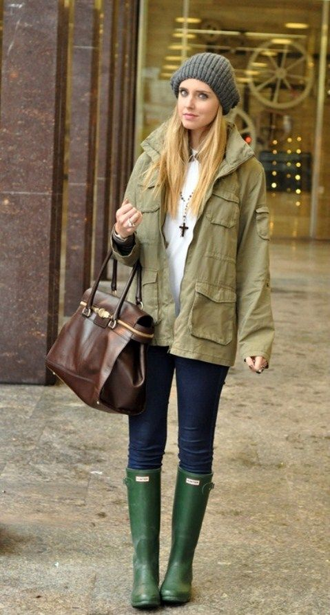 17 Best images about What to Wear - Hunter Boots on Pinterest ...