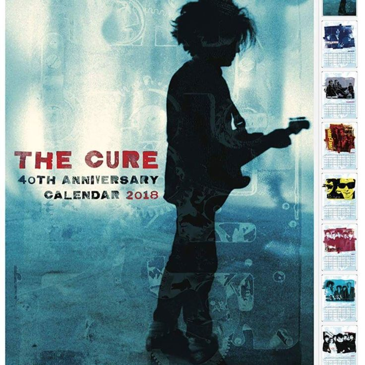 The Cure 40th Anniversary Calendar #TheCure #anniversary #calendar #2018 #RobertSmith #rock #pop #indie #goth #alternative #postpunk #80s #90s #music #instamusic #download @robertsmith @thecure @martinmarszalek