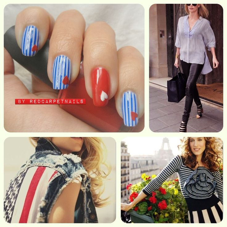 Get these super cool #july4th #4thjuly #summer #ontrend #nautical #red #white #blue #stripe #nails by RedCarpetNails £15. Book now 1redcarpetnails@gmail.com