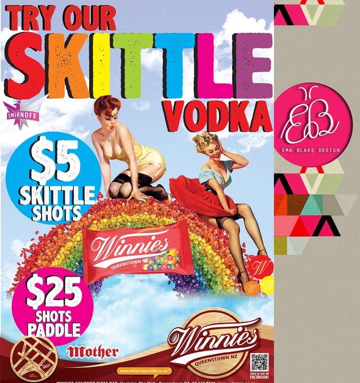 Skittle Vodka   Smirnoff   Winnies Pizza   Queenstown   NZ
