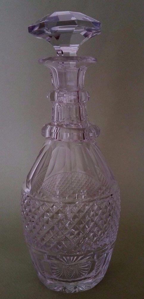 Carafe à liqueur Cristal taillé Baccarat Le Creusot Epoque Charles X