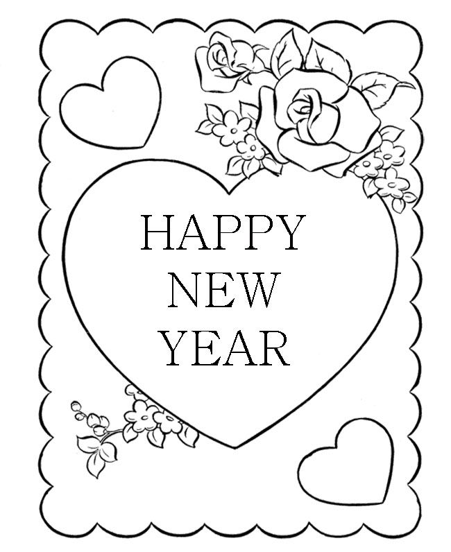 30 best New Year Coloring Page images on Pinterest | Coloring sheets ...