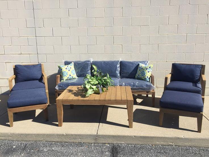 Home Decorators Colleciton Bermuda 6pc. Outdoor Deep Seating Set   Indigo