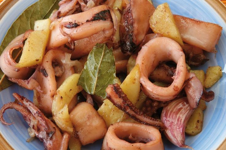 Gastronomía de Ibiza. Frita de calamar