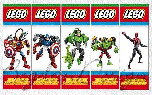 Lego bookmarks, lego party favor