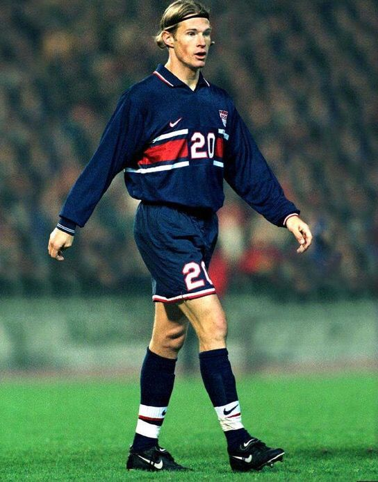 Brian McBride of the USA in 1998.