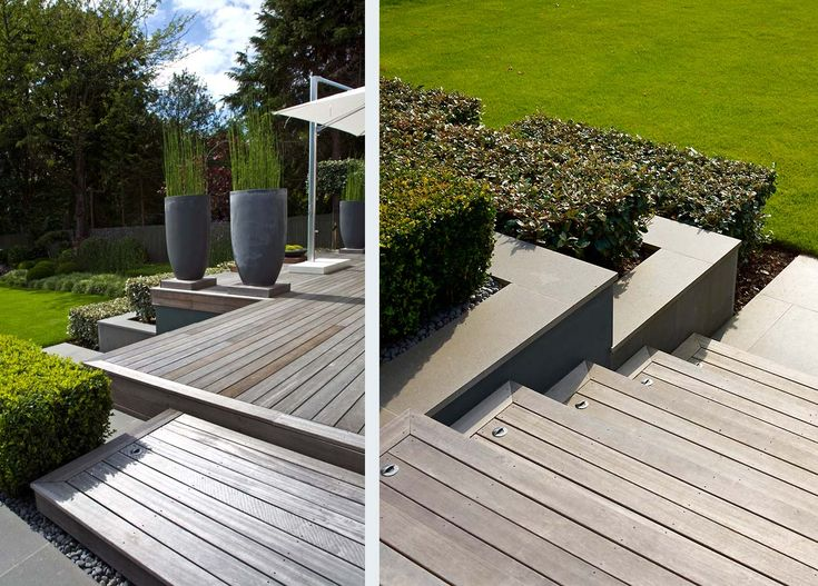 deck style with frame, plus discreet lights