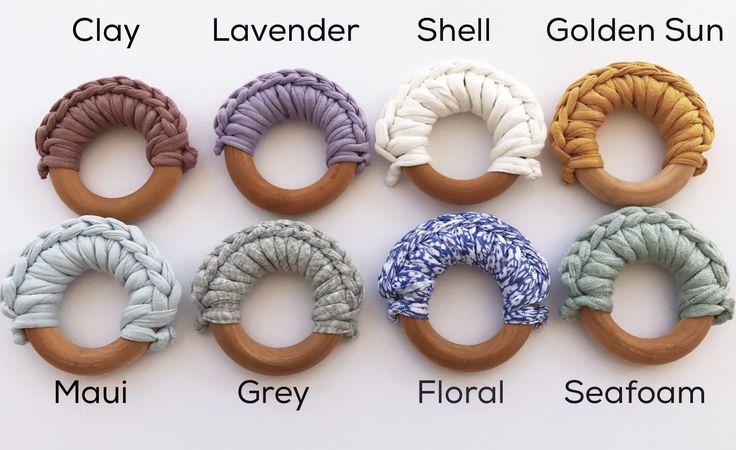 Crochet Teething Ring - 6 Colors, teething toy ring for teething baby, teething relief remedy, crochet diy baby shower gift, stocking stuffer