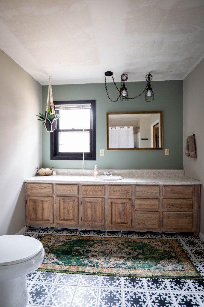 Budget Friendly Modern Rustic Master Bathroom Reveal Rustic Master Bathroom Bathroom Decor Apartment Decor