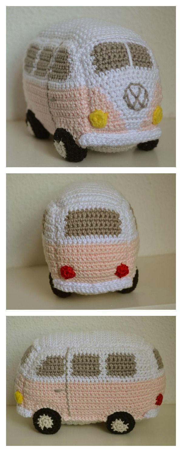vw bus crochet patterns crochet pinterest h ckeln geh kelte spielsachen und handarbeiten. Black Bedroom Furniture Sets. Home Design Ideas