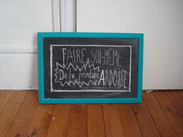 DIY COMPLET : Comment faire de la peinture ardoise (et dans toutes les couleurs qu'on veut) (#chalkboard)