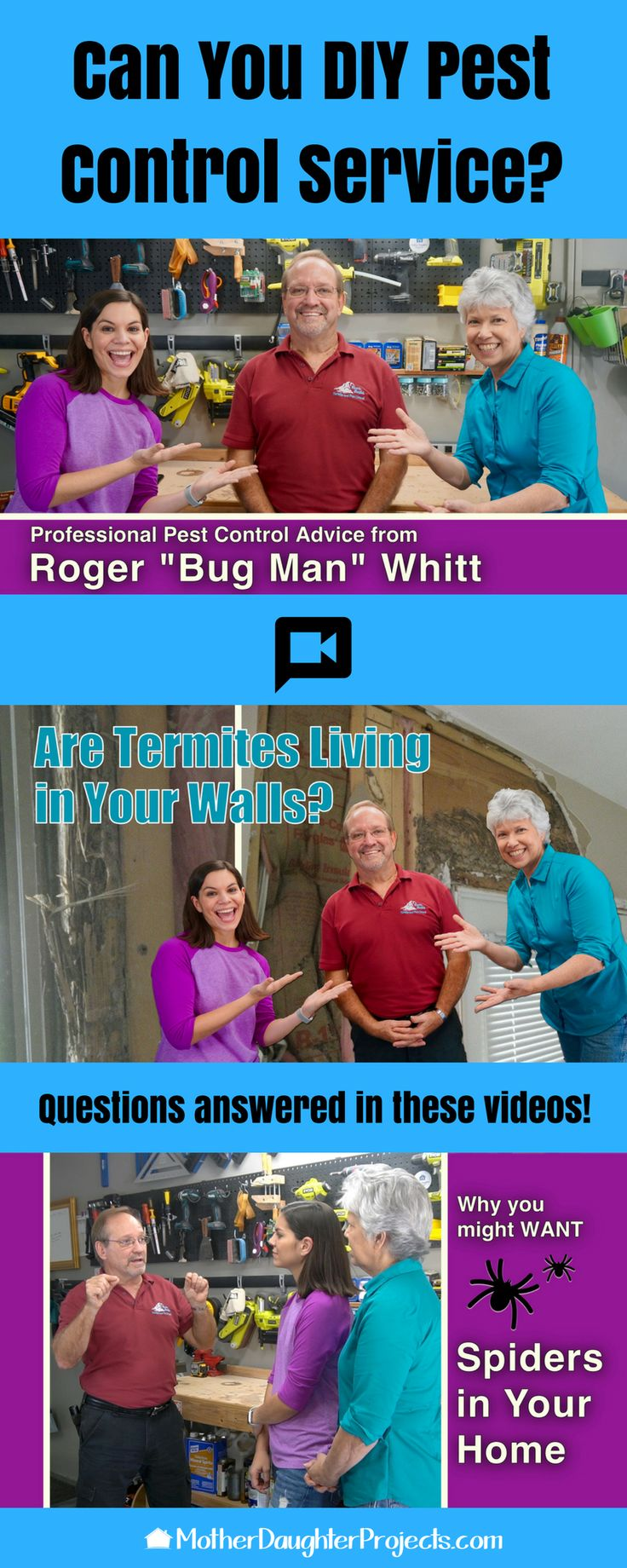 Learn all about pest control service and how to DIY your own  bug service in these videos!