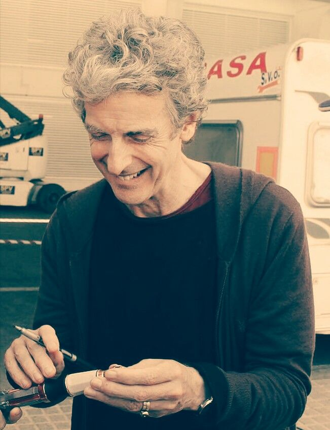 """I'd use a sonic screwdriver for all household problems: cleaning my gutters, unblocking the sink. I think it would be a very good remote for your telly. I spend all day working with a sonic screwdriver; I don't really want to take it home."" Peter Capaldi on uses for a sonic screwdriver. Hot Minute."