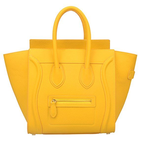 baby best authentic big clearance sale $119 Yellow Celine Luggage Tote Dupe | designer bag dupes ...
