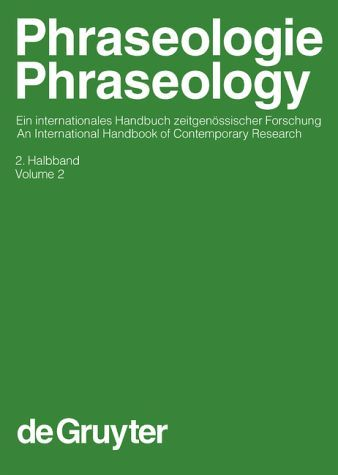 Phraseology / Phraseologie by Harald Burger / von Harald Burger