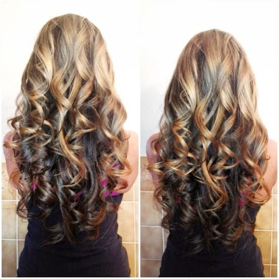 Lovely Reverse Ombre Faded Curls | HAIR to there ...