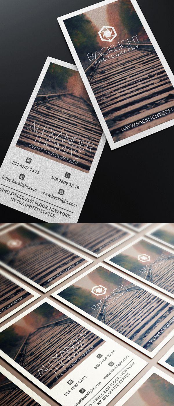 Photographer Business Card #businesscards #businesscardesign #printready #psdtemplates