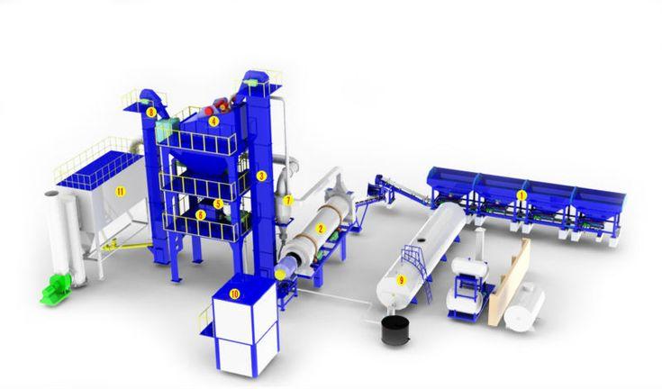 정주( 郑州) dayu lb500-40t/ H 아스팔트 혼합 공장은 가방 필터, 석탄과 석유 버너 아스팔트 플랜트