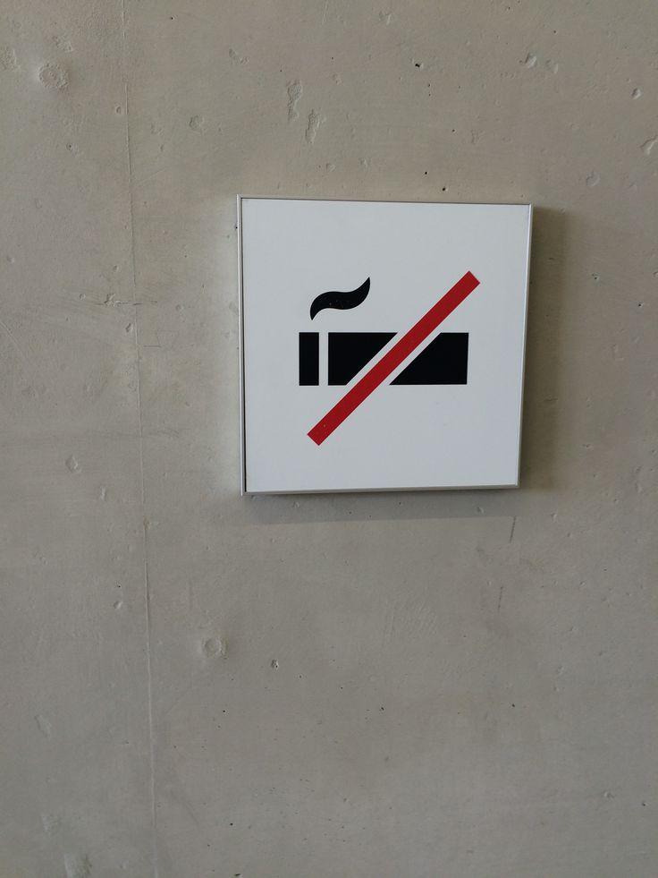 Niet roken bordje