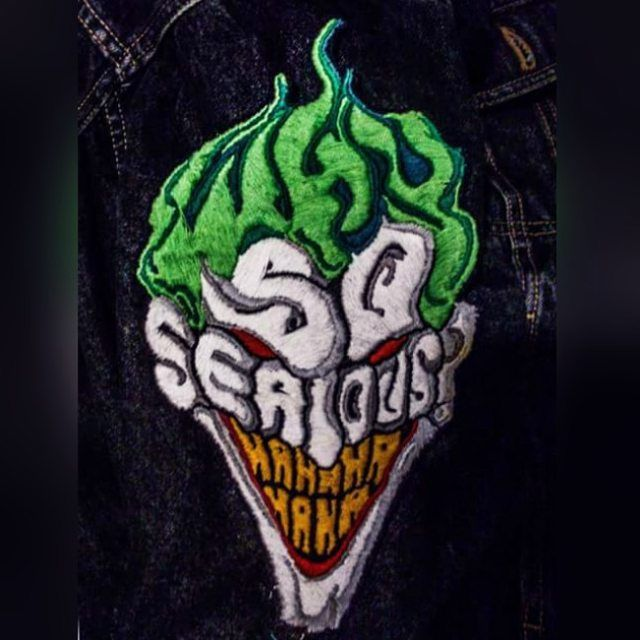 Why so serious? #mrj #joker #batman #batmanvillains #whysoserious #freak #dc #dccomics #fanart #bordado #bordadoamano #handmade #embroidery #embroideryart #fashion #fashiondesigner