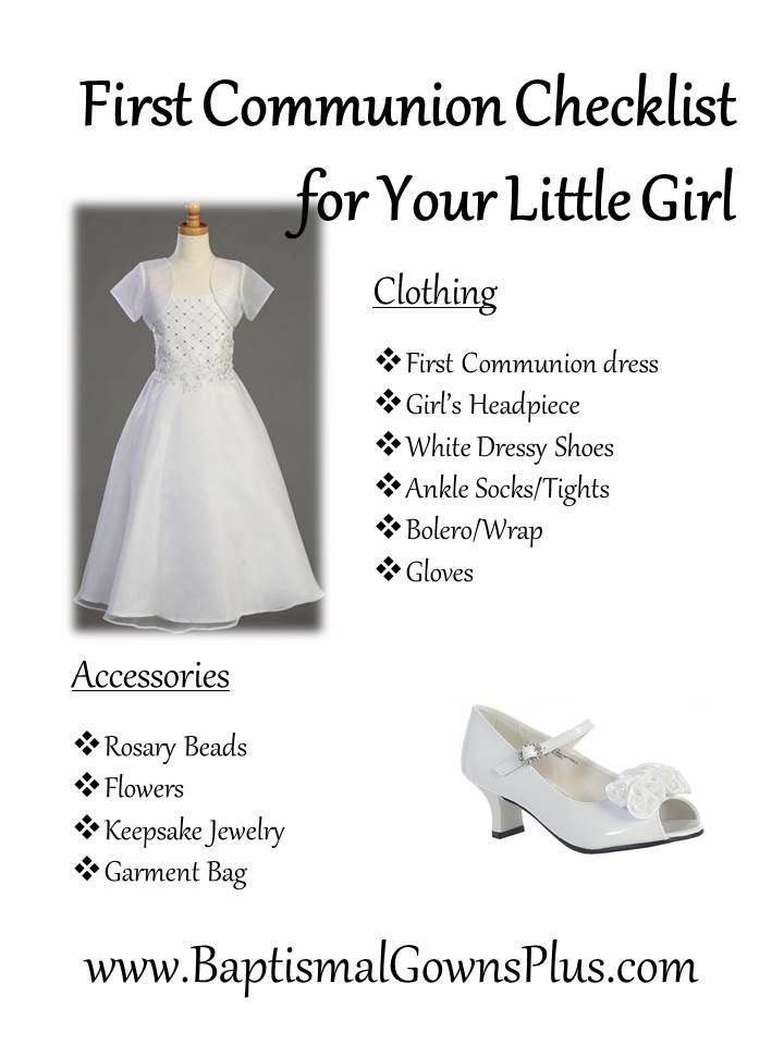 First Communion Checklist for your little girl includes a First Communion dress and girls headpiece among other things - http://mollyshanger.com/collections/first-communion-dresses